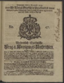 Wochentlich-Stettinische Frag- und Anzeigungs-Nachrichten. 1738 No. 47