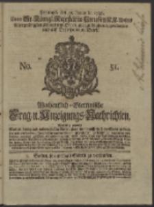 Wochentlich-Stettinische Frag- und Anzeigungs-Nachrichten. 1738 No. 51