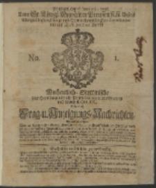 Wochentliche Stettinische zur Handlung nützliche Preis-Courante der Waaren und Wechsel-Cours, wie auch Frage- und Anzeigungs-Nachrichten. 1736 No. 1