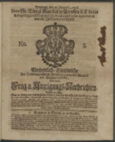Wochentliche Stettinische zur Handlung nützliche Preis-Courante der Waaren und Wechsel-Cours, wie auch Frage- und Anzeigungs-Nachrichten. 1736 No. 3