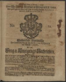 Wochentliche Stettinische zur Handlung nützliche Preis-Courante der Waaren und Wechsel-Cours, wie auch Frage- und Anzeigungs-Nachrichten. 1736 No. 12