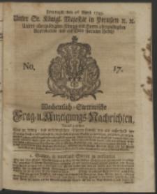 Wochentlich-Stettinische Frag- und Anzeigungs-Nachrichten. 1743 No.17