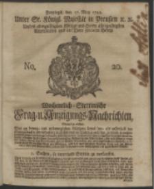 Wochentlich-Stettinische Frag- und Anzeigungs-Nachrichten. 1743 No. 20