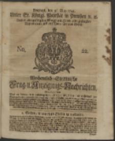 Wochentlich-Stettinische Frag- und Anzeigungs-Nachrichten. 1743 No. 22