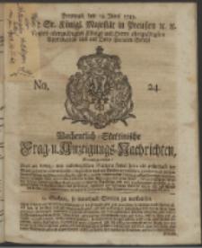 Wochentlich-Stettinische Frag- und Anzeigungs-Nachrichten. 1743 No. 24