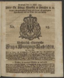Wochentlich-Stettinische Frag- und Anzeigungs-Nachrichten. 1743 No. 25