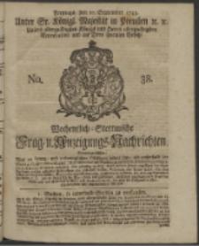Wochentlich-Stettinische Frag- und Anzeigungs-Nachrichten. 1743 No. 38