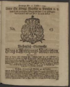 Wochentlich-Stettinische Frag- und Anzeigungs-Nachrichten. 1743 No. 43