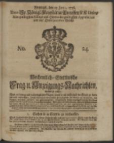 Wochentliche Stettinische zur Handlung nützliche Preis-Courante der Waaren und Wechsel-Cours, wie auch Frage- und Anzeigungs-Nachrichten. 1736 No. 24