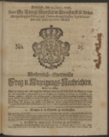 Wochentliche Stettinische zur Handlung nützliche Preis-Courante der Waaren und Wechsel-Cours, wie auch Frage- und Anzeigungs-Nachrichten. 1736 No. 25
