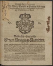 Wochentliche Stettinische zur Handlung nützliche Preis-Courante der Waaren und Wechsel-Cours, wie auch Frage- und Anzeigungs-Nachrichten. 1736 No. 26