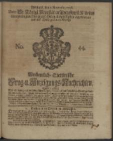 Wochentliche Stettinische zur Handlung nützliche Preis-Courante der Waaren und Wechsel-Cours, wie auch Frage- und Anzeigungs-Nachrichten. 1736 No. 44
