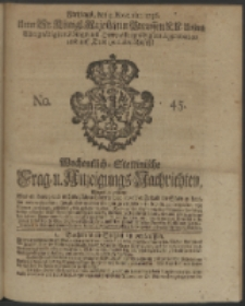 Wochentliche Stettinische zur Handlung nützliche Preis-Courante der Waaren und Wechsel-Cours, wie auch Frage- und Anzeigungs-Nachrichten. 1736 No. 45