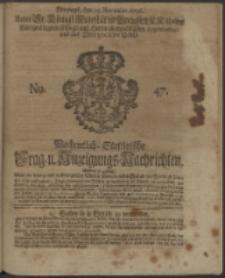 Wochentliche Stettinische zur Handlung nützliche Preis-Courante der Waaren und Wechsel-Cours, wie auch Frage- und Anzeigungs-Nachrichten. 1736 No. 47