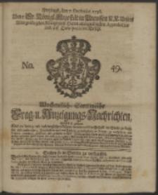 Wochentliche Stettinische zur Handlung nützliche Preis-Courante der Waaren und Wechsel-Cours, wie auch Frage- und Anzeigungs-Nachrichten. 1736