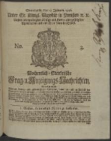 Wochentlich-Stettinische Frag- und Anzeigungs-Nachrichten. 1746 No. 3