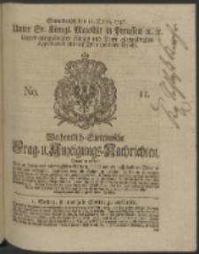 Wochentlich-Stettinische Frag- und Anzeigungs-Nachrichten. 1746 No. 11
