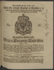 Wochentlich-Stettinische Frag- und Anzeigungs-Nachrichten. 1746 No. 18