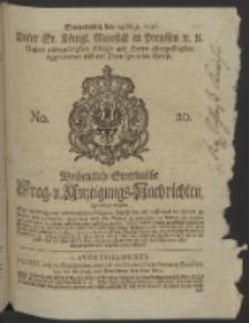 Wochentlich-Stettinische Frag- und Anzeigungs-Nachrichten. 1746 No. 20