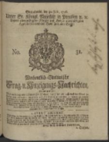 Wochentlich-Stettinische Frag- und Anzeigungs-Nachrichten. 1746 No. 31