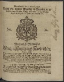 Wochentlich-Stettinische Frag- und Anzeigungs-Nachrichten. 1746 No. 32