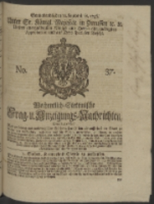 Wochentlich-Stettinische Frag- und Anzeigungs-Nachrichten. 1746 No. 37