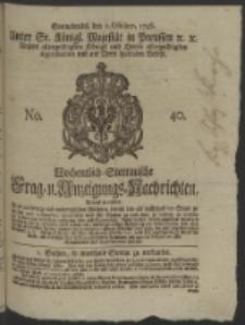 Wochentlich-Stettinische Frag- und Anzeigungs-Nachrichten. 1746 No. 40