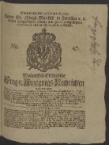Wochentlich-Stettinische Frag- und Anzeigungs-Nachrichten. 1746 No. 47
