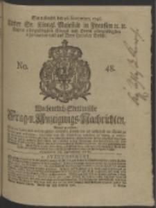Wochentlich-Stettinische Frag- und Anzeigungs-Nachrichten. 1746 No. 48
