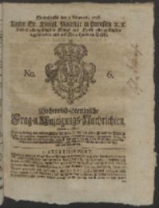 Wochentlich-Stettinische Frag- und Anzeigungs-Nachrichten. 1756 No. 6 + Anhang