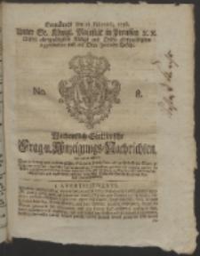 Wochentlich-Stettinische Frag- und Anzeigungs-Nachrichten. 1756 No. 8 + Anhang