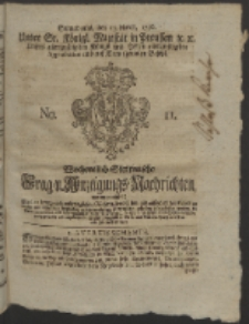Wochentlich-Stettinische Frag- und Anzeigungs-Nachrichten. 1756 No. 11 + Anhang