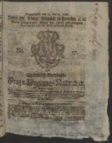 Wochentlich-Stettinische Frag- und Anzeigungs-Nachrichten. 1756 No. 17 + Anhang