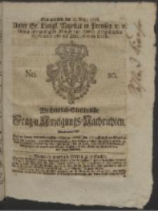Wochentlich-Stettinische Frag- und Anzeigungs-Nachrichten. 1756 No. 20 + Anhang