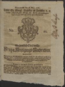 Wochentlich-Stettinische Frag- und Anzeigungs-Nachrichten. 1756 No. 21 + Anhang