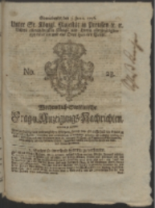 Wochentlich-Stettinische Frag- und Anzeigungs-Nachrichten. 1756 No. 23 + Anhang