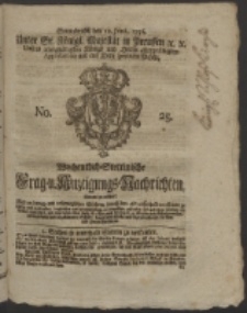 Wochentlich-Stettinische Frag- und Anzeigungs-Nachrichten. 1756 No. 25 + Anhang