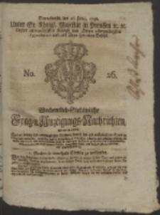 Wochentlich-Stettinische Frag- und Anzeigungs-Nachrichten. 1756 No. 26 + Anhang
