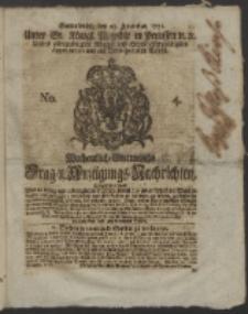 Wochentlich-Stettinische Frag- und Anzeigungs-Nachrichten. 1751 No. 4