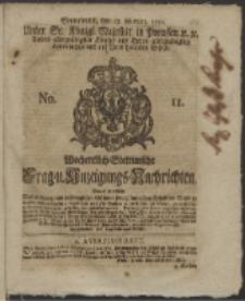 Wochentlich-Stettinische Frag- und Anzeigungs-Nachrichten. 1751 No. 11