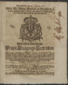 Wochentlich-Stettinische Frag- und Anzeigungs-Nachrichten. 1751 No. 13