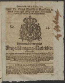 Wochentlich-Stettinische Frag- und Anzeigungs-Nachrichten. 1751 No. 14