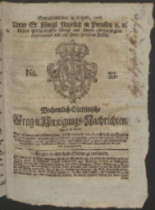 Wochentlich-Stettinische Frag- und Anzeigungs-Nachrichten. 1756 No. 33 + Anhang