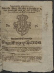 Wochentlich-Stettinische Frag- und Anzeigungs-Nachrichten. 1756 No. 36 + Anhang