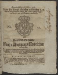 Wochentlich-Stettinische Frag- und Anzeigungs-Nachrichten. 1756 No. 42 + Anhang