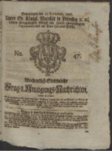 Wochentlich-Stettinische Frag- und Anzeigungs-Nachrichten. 1756 No. 47 + Anhang