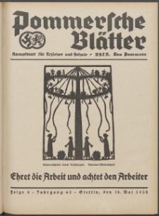 Pommersche Blätter : Kampfblatt für Erzieher und Schule. Jg. 63, 1938 Folge 4