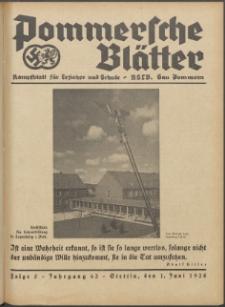 Pommersche Blätter : Kampfblatt für Erzieher und Schule. Jg. 63, 1938 Folge 5