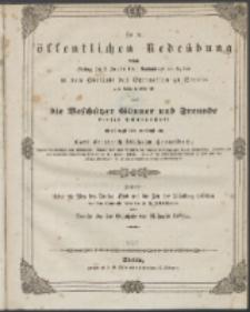 Zu der öffentlichen Redeübung 1840