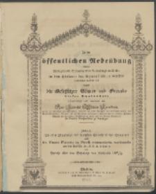 Zu der öffentlichen Redeübung 1842